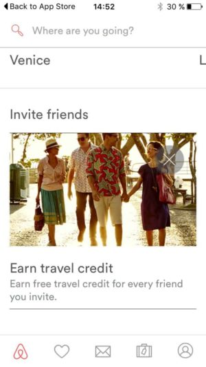 Invite friends by @airbnb #ui #inspiration #interface #ios #design from UIGarage