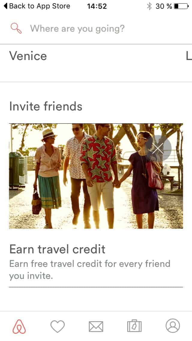 Invite friends by @airbnb #ui #inspiration #interface #ios #design Advertising iOS  - UI Garage - The database of UI