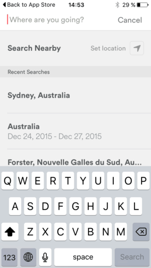 Search bar by @airbnb #ui #inspiration #interface #ios #design from UIGarage