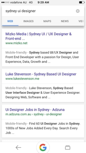 Search results on @google #search #results #ios #design from UIGarage