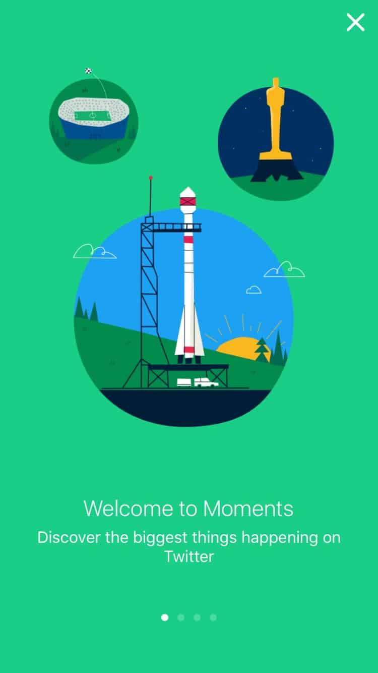 Onboarding on @twitter Moments #ui #inspiration #interface #ios #design 4