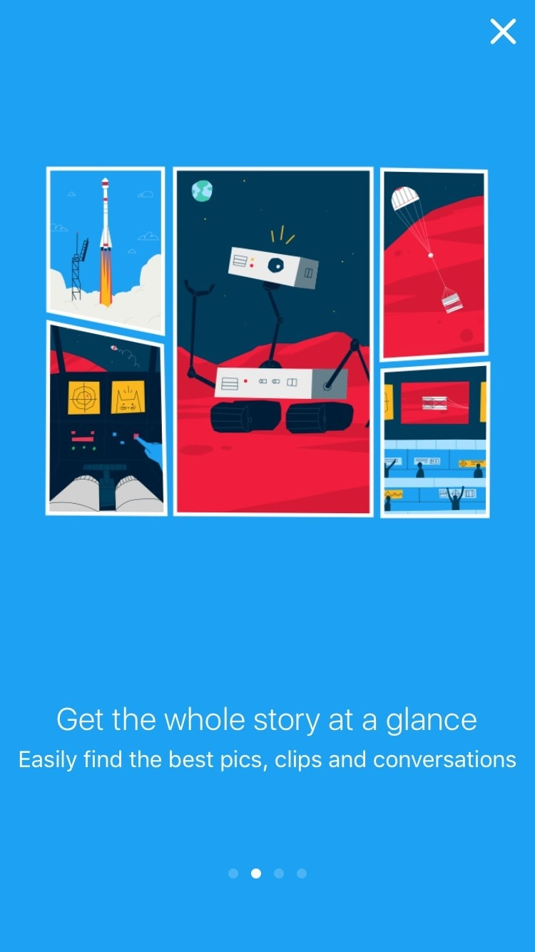 Onboarding on @twitter Moments #ui #inspiration #interface #ios #design iOS Onboarding  - UI Garage - The database of UI