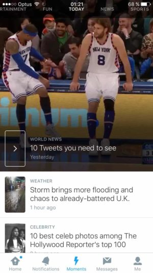 Moments Tweets page @twitter Moments #ui #inspiration #interface #ios #design 3