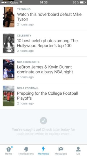 Reach the end on @twitter Moments #ui #inspiration #interface #ios #design 1