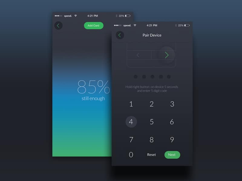App design for Spend Wallet with Tutorial - Daily UI Design ...