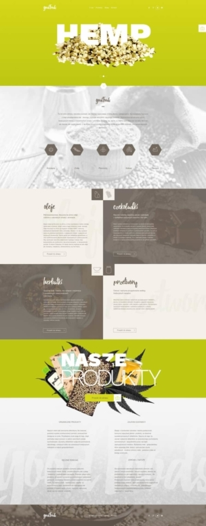 Great landing page for Food   Art Director: Ewelina Gąska Front end developer: Piotr Pupczyk from UIGarage