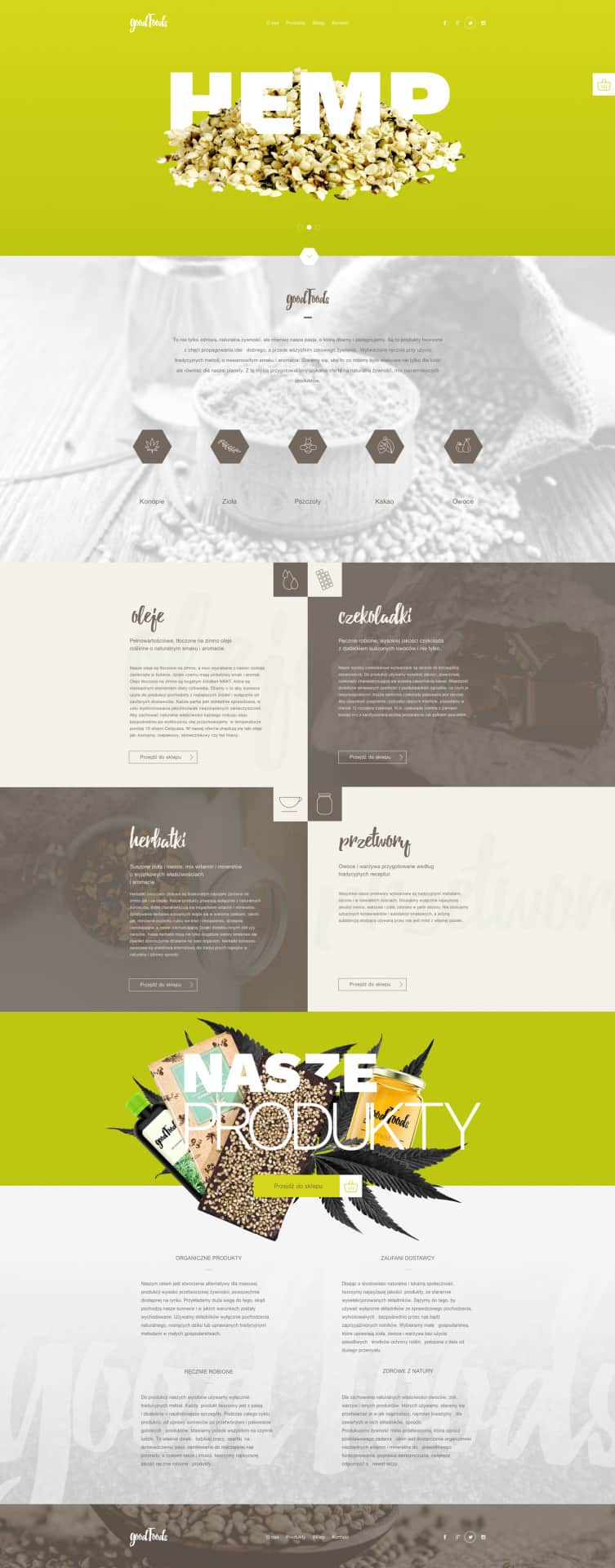 Great landing page for Food   Art Director: Ewelina Gąska Front end developer: Piotr Pupczyk Landing Web  - UI Garage - The database of UI