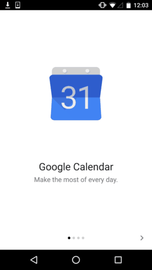 Onboarding by Google Calendar #ui #inspiration #interface #materialdesign #design #android from UIGarage