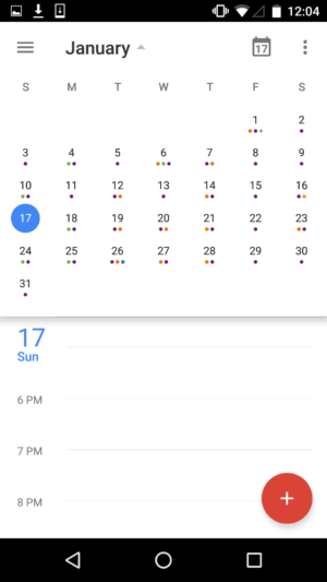 Monthly View on Google Calendar #ui #inspiration #interface #materialdesign #design #android from UIGarage