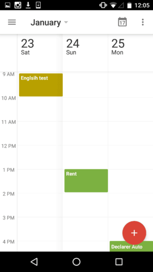 3 Day view on Google Calendar #ui #inspiration #interface #ios #design #iphone from UIGarage