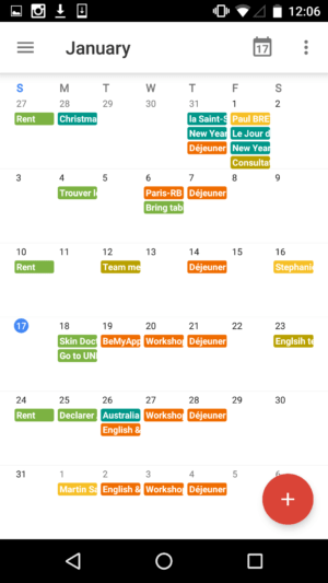 Monthly view 2 on Google Calendar #ui #inspiration #interface #materialdesign #design #android from UIGarage