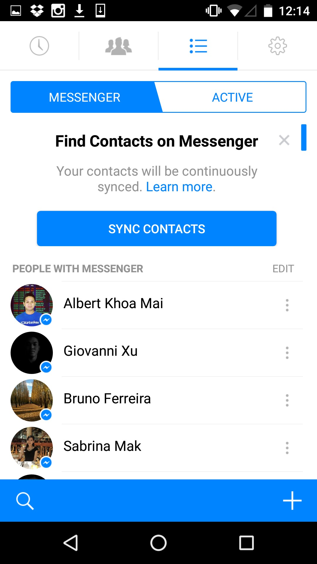 Ask to sync contacts by Facebook Messenger #ui #inspiration #interface #materialdesign #design #android Android Ask Permission  - UI Garage - The database of UI