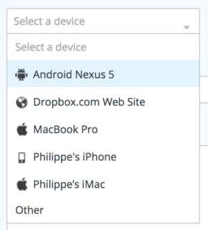 Dropdown with icon on @Dropbox web #ui #inspiration #interface #web #design from UIGarage