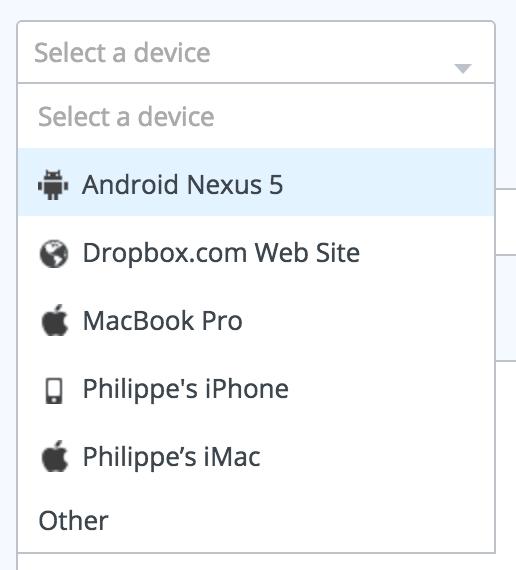Dropdown with icon on @Dropbox web #ui #inspiration #interface #web #design Dropdown Web  - UI Garage - The database of UI