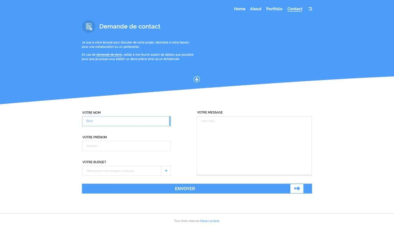 Contact forms @briceseraphin web #ui #inspiration #interface #web ...