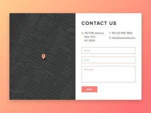 Contact forms by @rodkllr web #ui #inspiration #interface #web #design from UIGarage