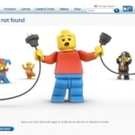 A creative 404 page by Lego