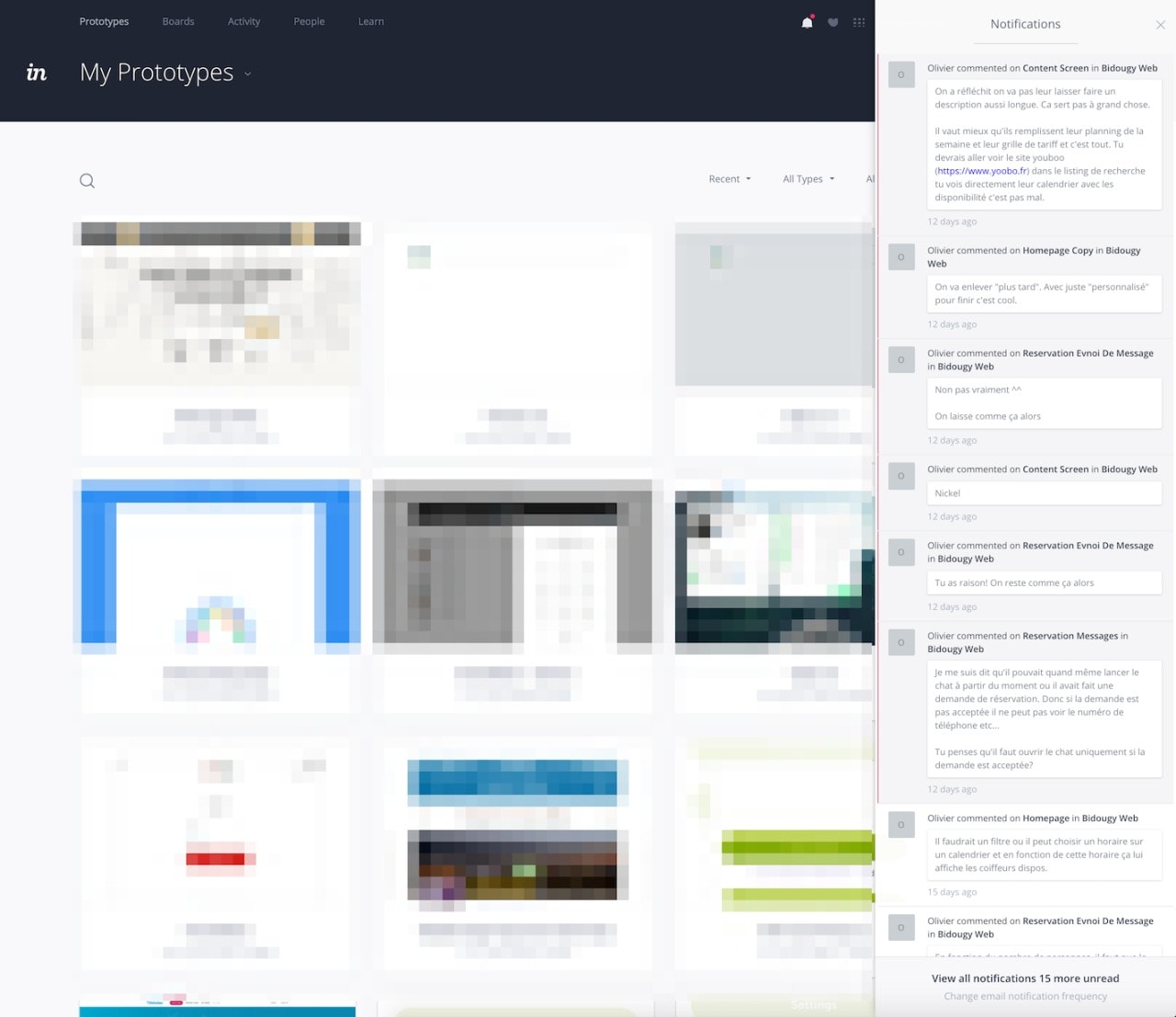 Activity/Notifications by @invision #ui #inspiration #interface #web #design Activity Web  - UI Garage - The database of UI