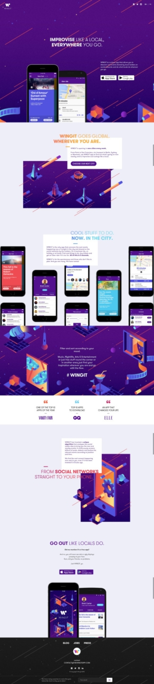 Awesome Landing page by @wingit_app #ui #inspiration #interface #web #design from UIGarage
