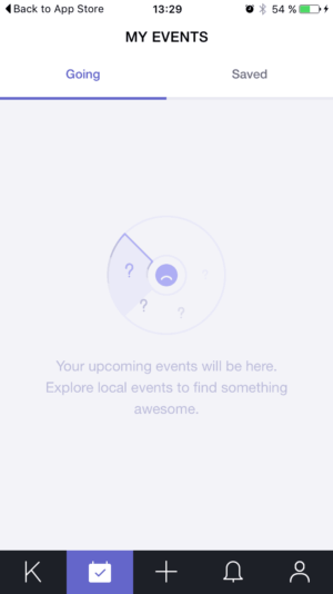 Empty state on @konvene #ui #inspiration #interface #ios #design from UIGarage