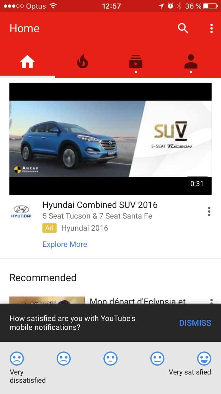 Ask For Review On Youtube Ui Inspiration Interface Ios Design Iphone Daily Ui Design