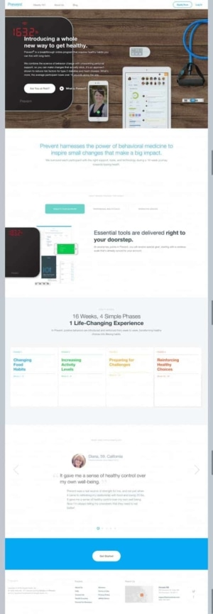Awesome landing page by @prevent web #ui #inspiration #interface #web #design from UIGarage