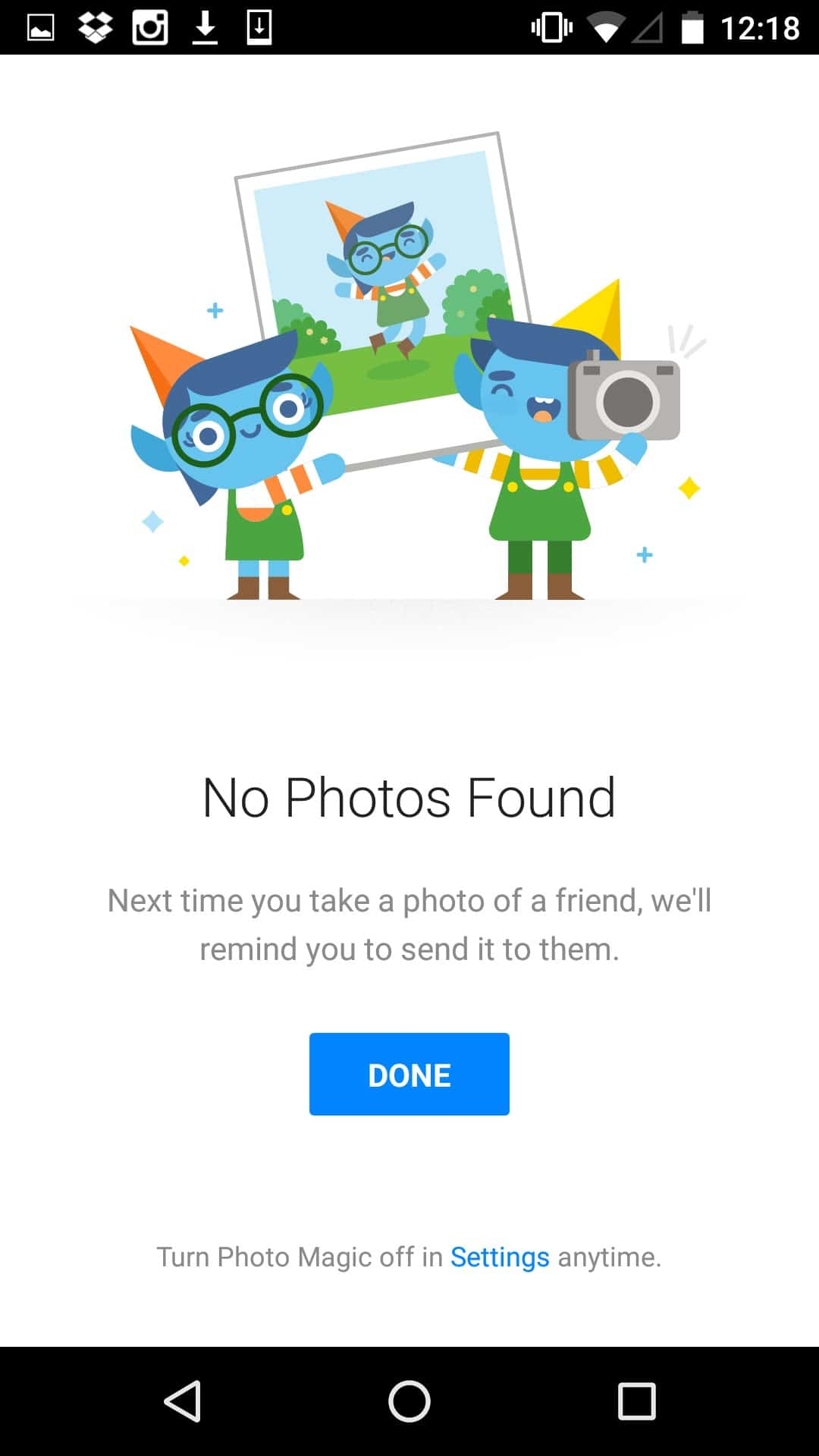 Empty state by @facebook #ui #inspiration #interface #materialdesign #design #android Android Empty States  - UI Garage - The database of UI
