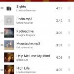 List of songs on Google music #ui #inspiration #interface #m...