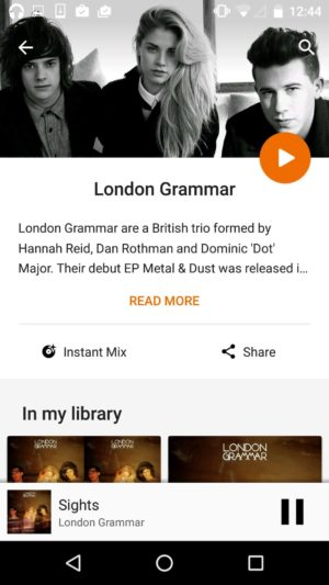 Artiste page on @google music #ui #inspiration #interface #materialdesign #design #android from UIGarage