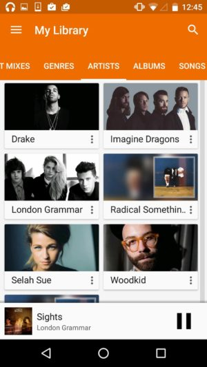 Display artist with pictures on @google music #ui #inspiration #interface #materialdesign #design #android from UIGarage