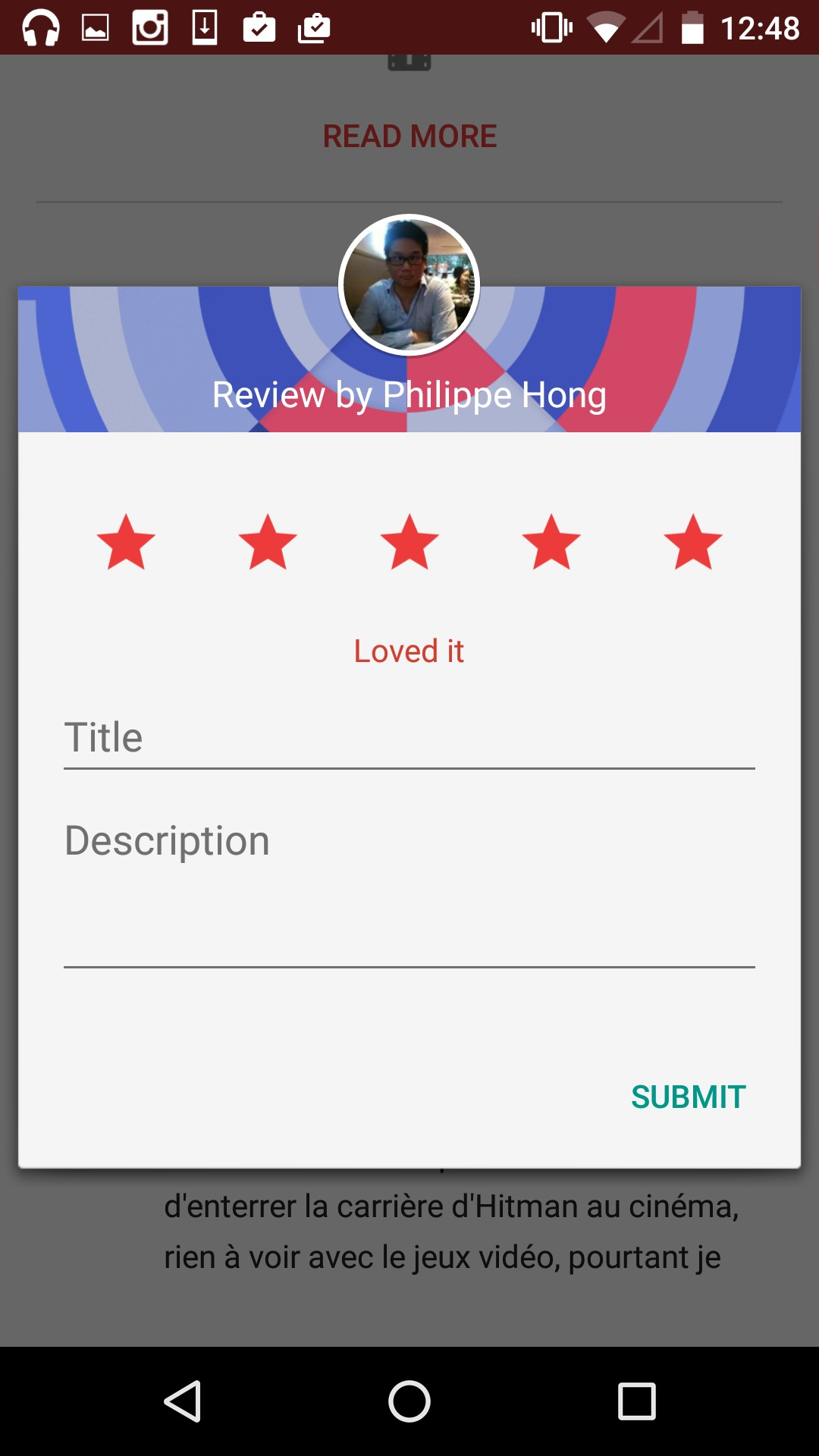 Rating an app on @google play #ui #inspiration #interface #materialdesign #design #android from UIGarage