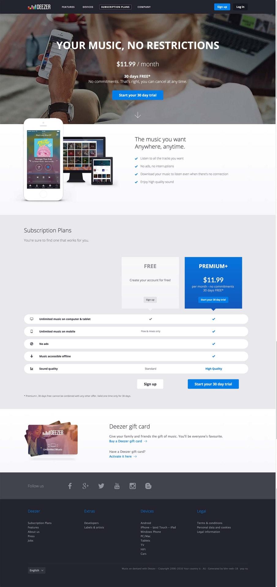 pricing page on deezer ui inspiration interface web design pricing page on deezer ui inspiration interface web design all pricing