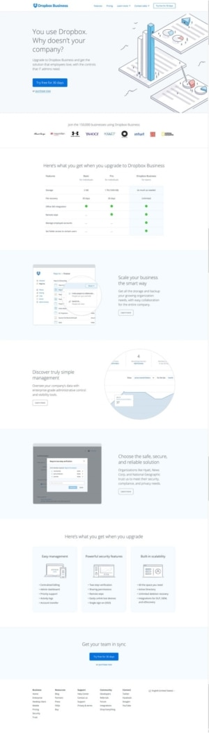Dropbox Business Pricing page #ui #inspiration #interface #web #design from UIGarage