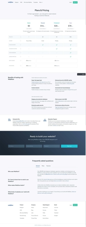 Pricing page on Webflow #ui #inspiration #interface #web #design from UIGarage