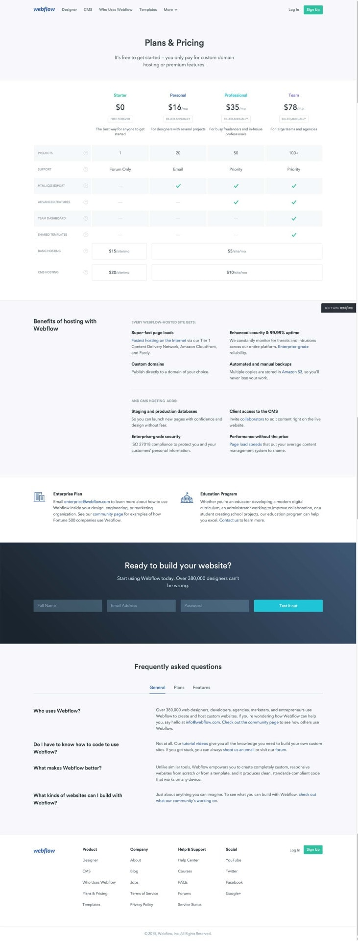 Pricing page on Webflow #ui #inspiration #interface #web #design Pricing Web  - UI Garage - The database of UI