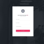 Signup on Invision #ui #inspiration #interface #web #design