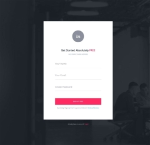 Signup on Invision #ui #inspiration #interface #web #design from UIGarage