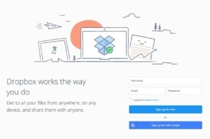 Signup on Dropbox #ui #inspiration #interface #web #design from UIGarage