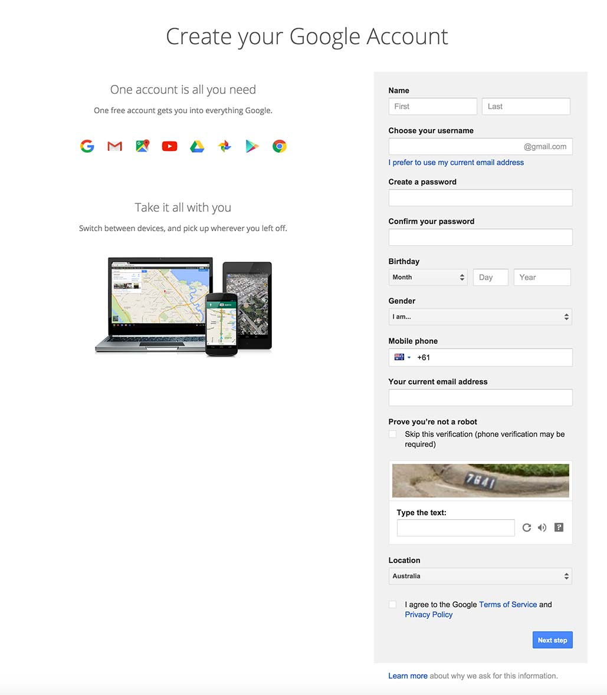 Signup on Google #ui #inspiration #interface #web #design Signup Web  - UI Garage - The database of UI
