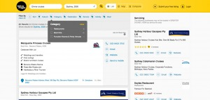 Directory filters by @yellowpages #web #filters from UIGarage