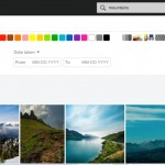 Photo gallery filters by @Flickr #web #filters