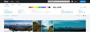 Photo gallery filters by @Flickr #web #filters from UIGarage