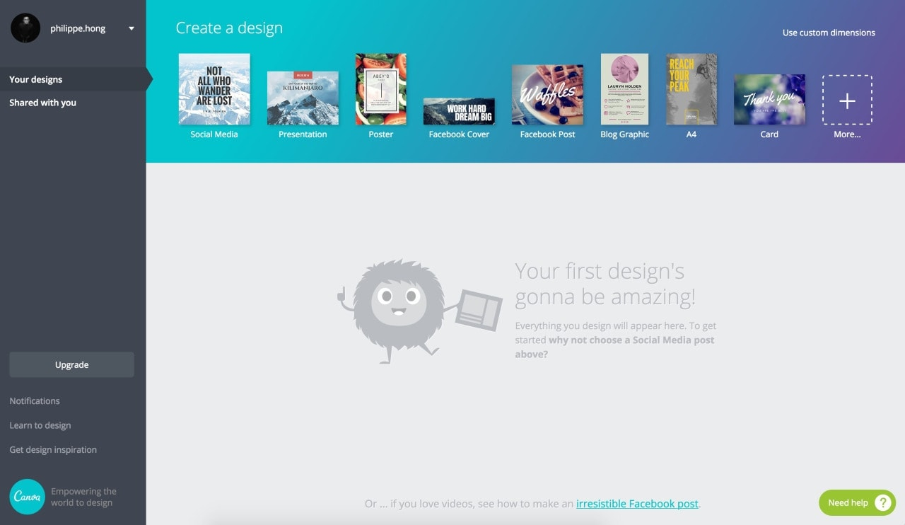 Inspiration Empty State On Canva Web Ui Inspiration Interface