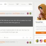 Profile page by farzadban web #ui #inspiration #interface #w...