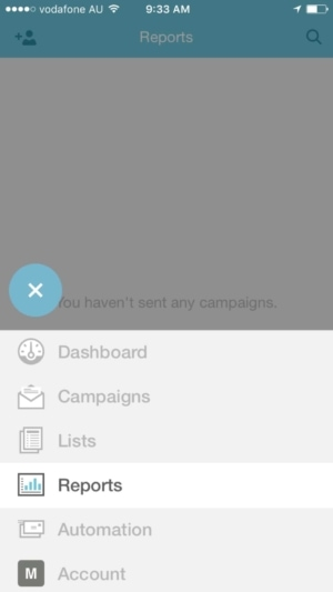 Mailchimp uncollapsed tab bar #ios #tab #ui #inspiration from UIGarage
