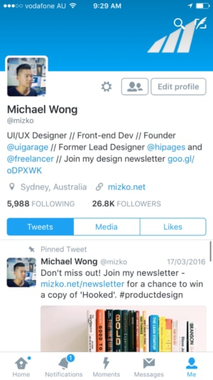 Twitter #iOS app #tab bar with pending notification. from UIGarage