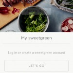 Login on sweetgreen