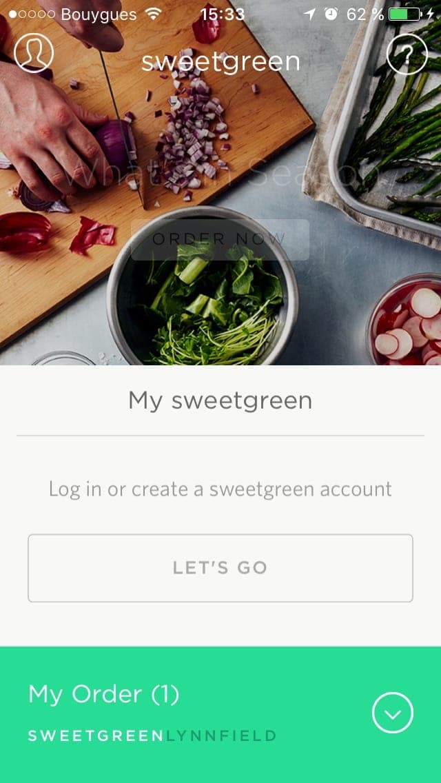 Login on sweetgreen from UIGarage