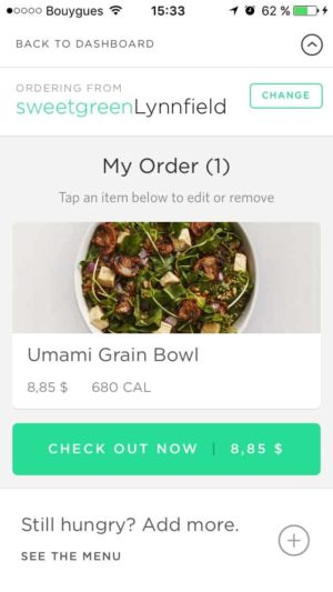 Checkout on Sweetgreen #ui #inspiration #interface #ios #design #iphone from UIGarage