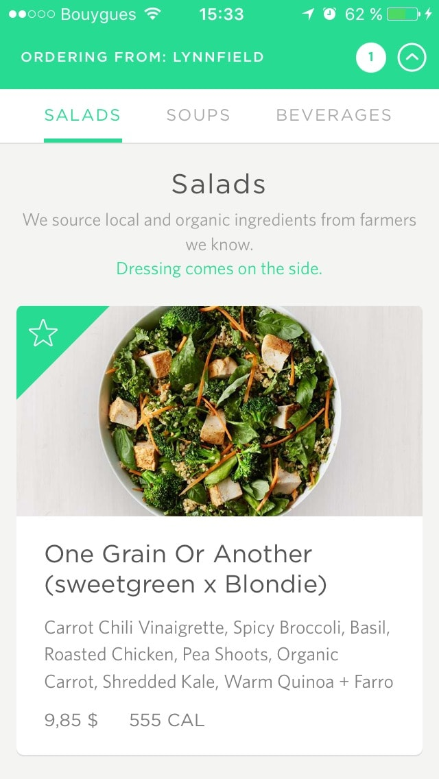 Homepage on sweetgreen #ui #inspiration #interface #ios #design #iphone from UIGarage